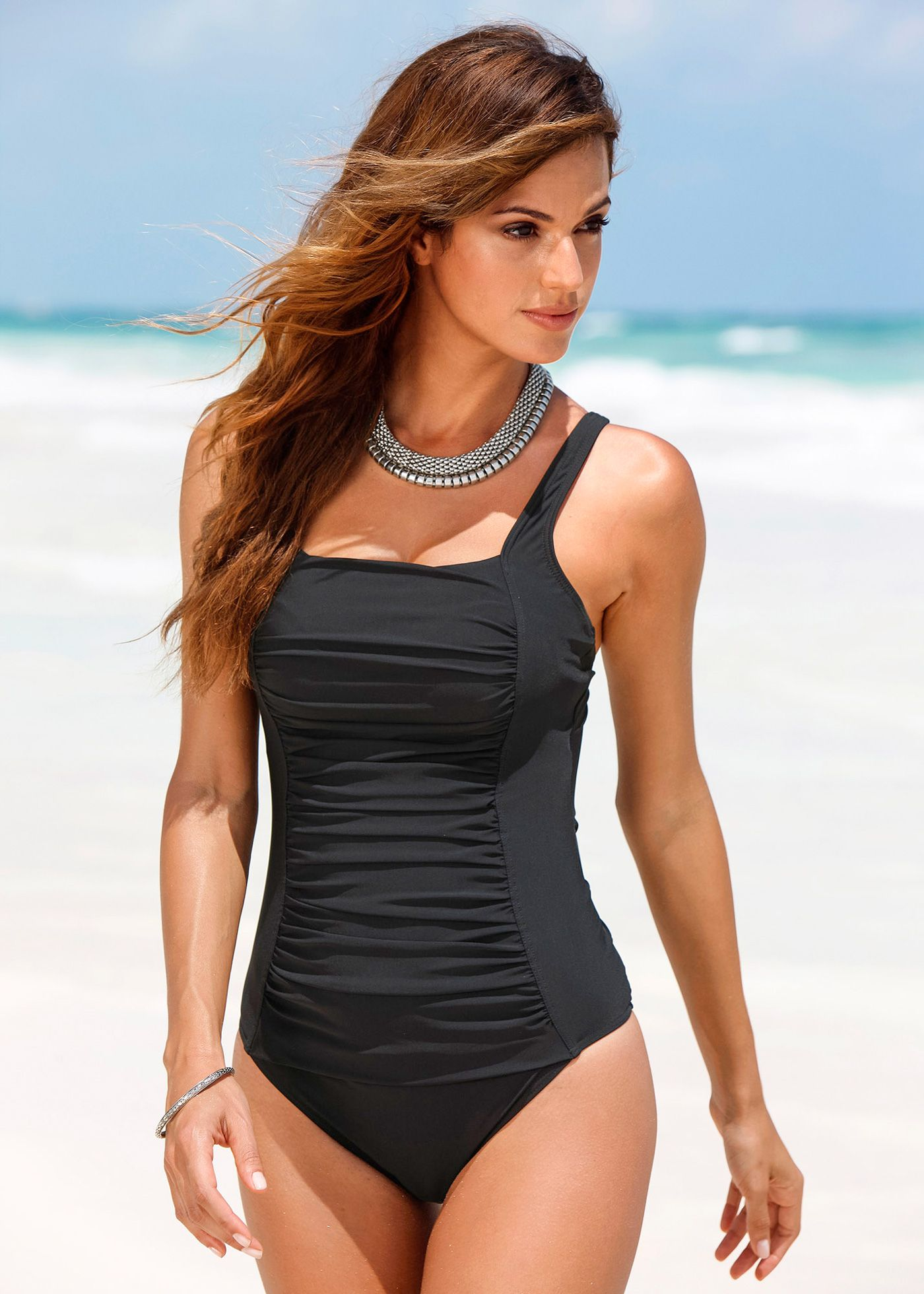 Item Type: One Pieces Sport Type: Swim Gender: Women Pattern Type: Solid  Brand Name: NAKIAEOI Material: Spandex,Polyester Fit: Fits true to size, ...