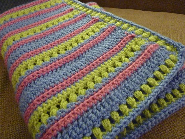 Ravelry: Project Gallery for Soft Stripes Blanket pattern by Bernat ...