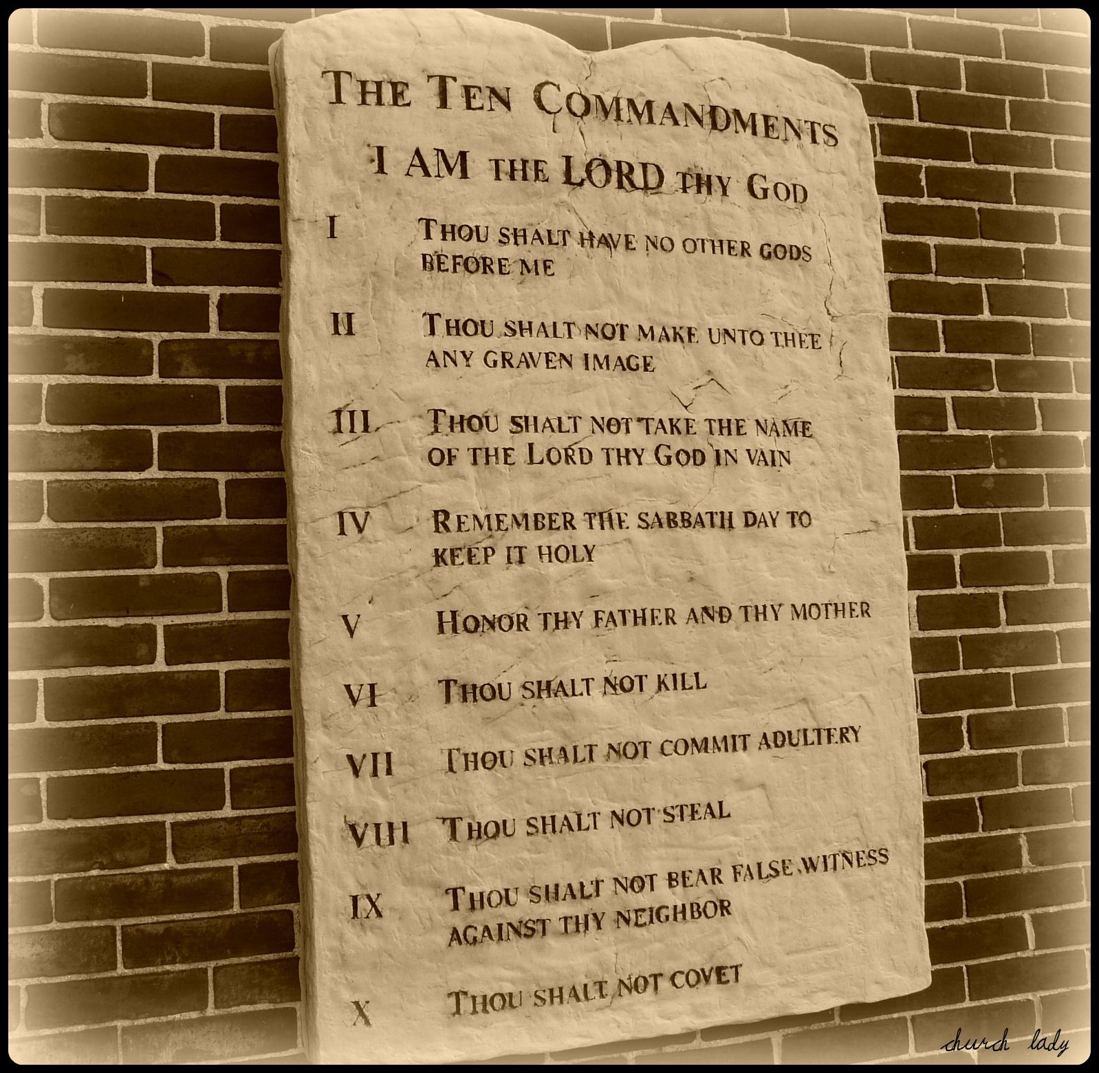 Famous 10 Commandments Wall Decor Gift - The Wall Art Decorations ...