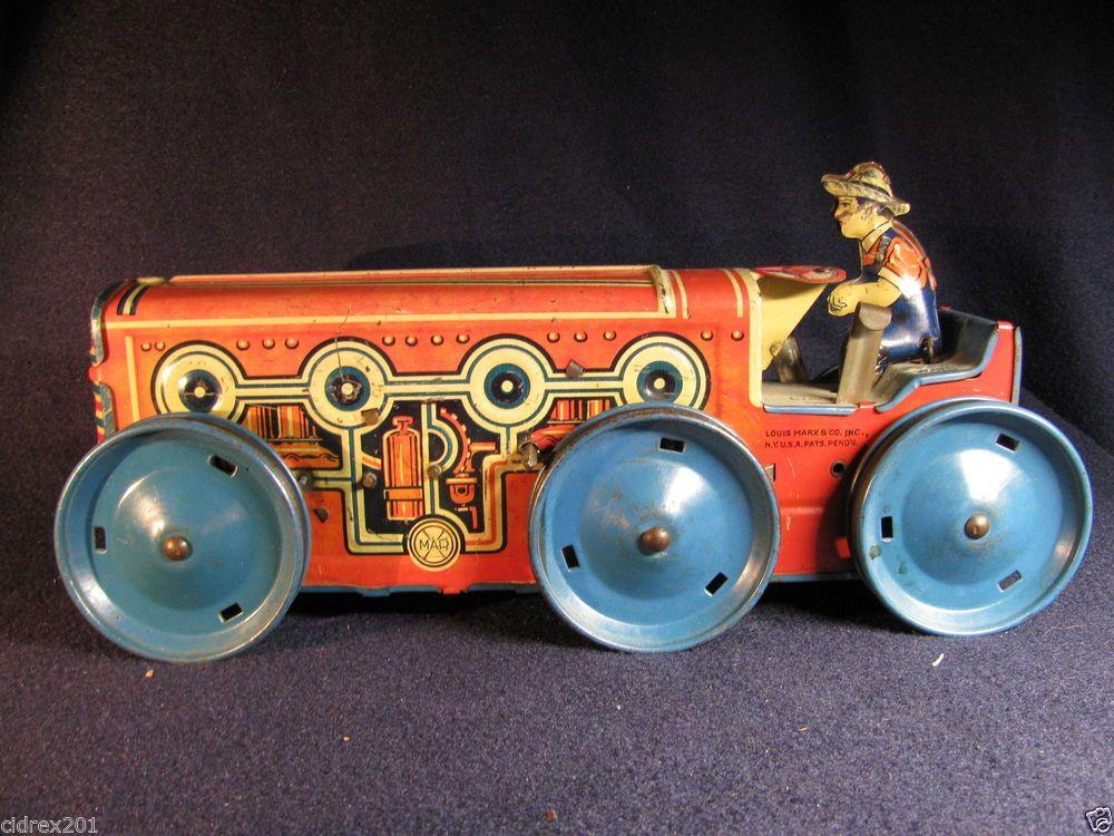 Alle Artikel in Elektrisches Spielzeug 1931 Vintage Original MARX COO COO Car Wind Up Tin Toy CRAZY CAR  Working