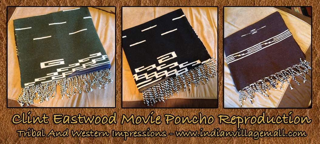 Clint Eastwood Poncho Reproduction Eastwood movies