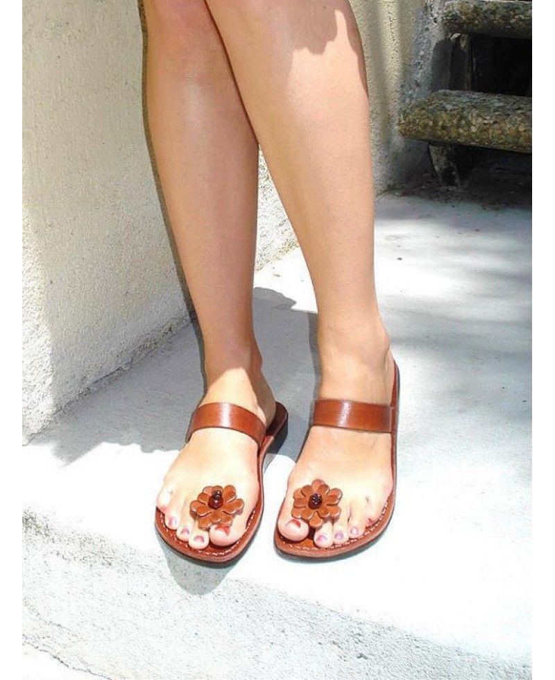 Flat summer for women model 41. Flat summer for women model 41 Brown  Leather Sandals ... 3837392d222d