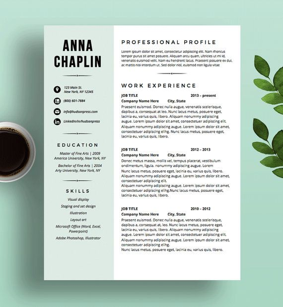 Modern Resume Template, CV and Cover Letter, Resume Layout Design - ms word resume templates download