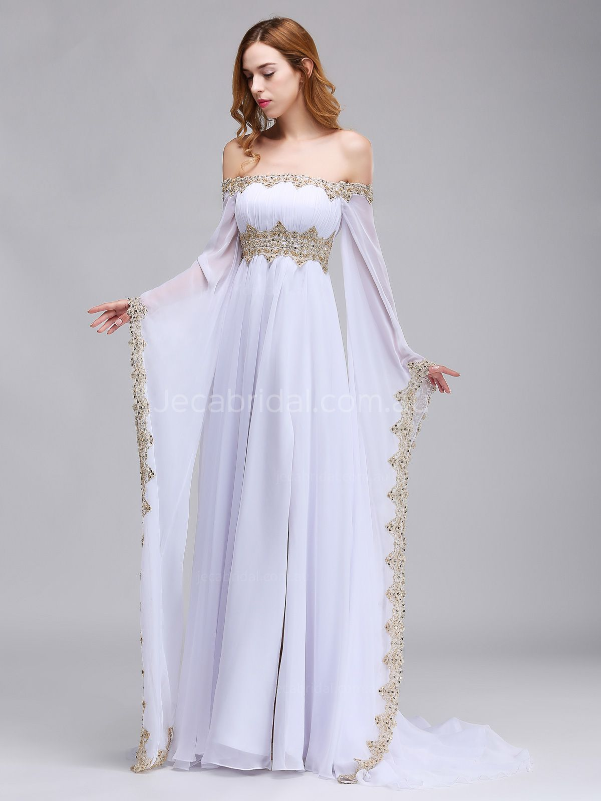 Off The Shoulder Medieval Wedding Dress W1064 Front 4: Cheap Meval Wedding Dresses At Websimilar.org