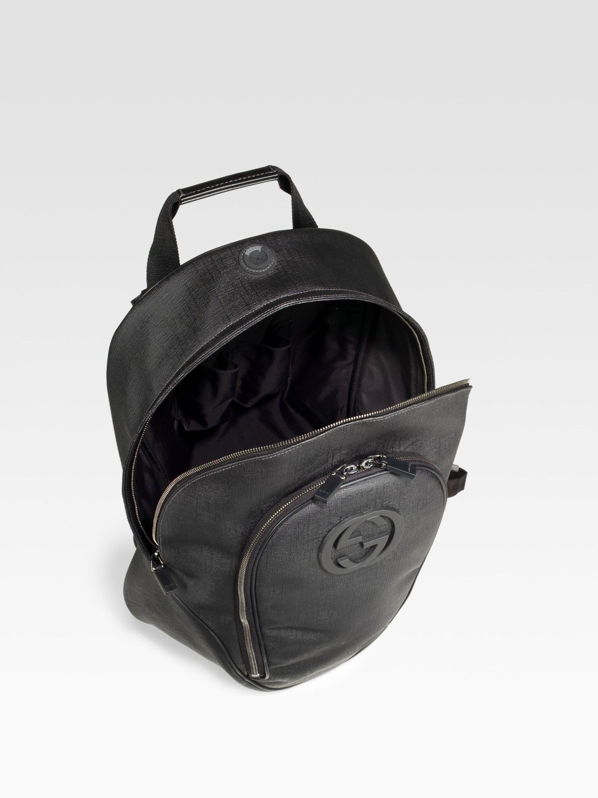 3f2a8a6e12b6e6 Men's Black Plus Backpack | Gucci Bag Wear | Gucci black, Gucci ...