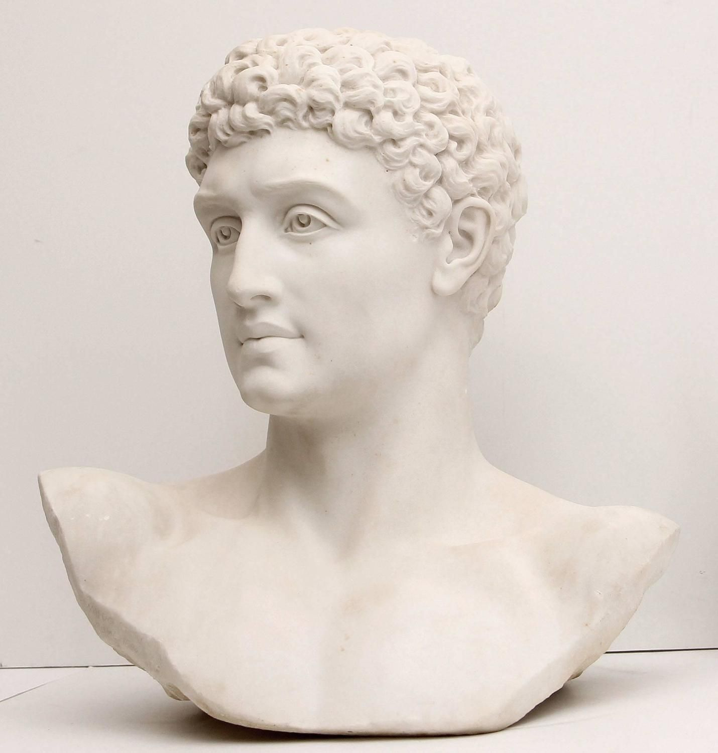 Hermes Classical Greco Roman Marble Bust By American Sculptor Waldo Story 1stdibs Com Marble Bust Modern Sculpture Sculptor