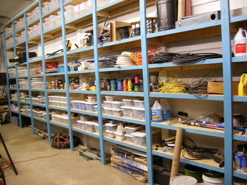 Adding a rolling library ladder to storage shelving for Basement design tool