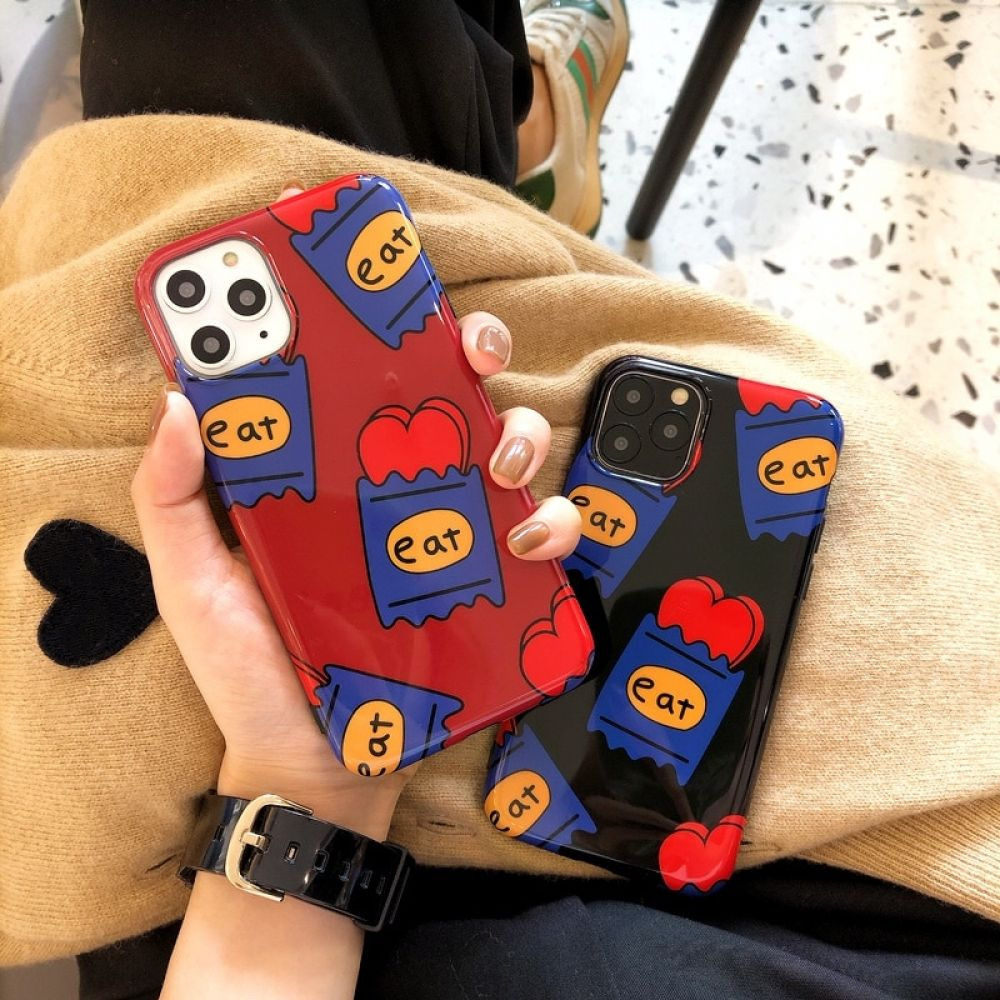 Ins korea love heart phone case for iphone 11 11pro max xr
