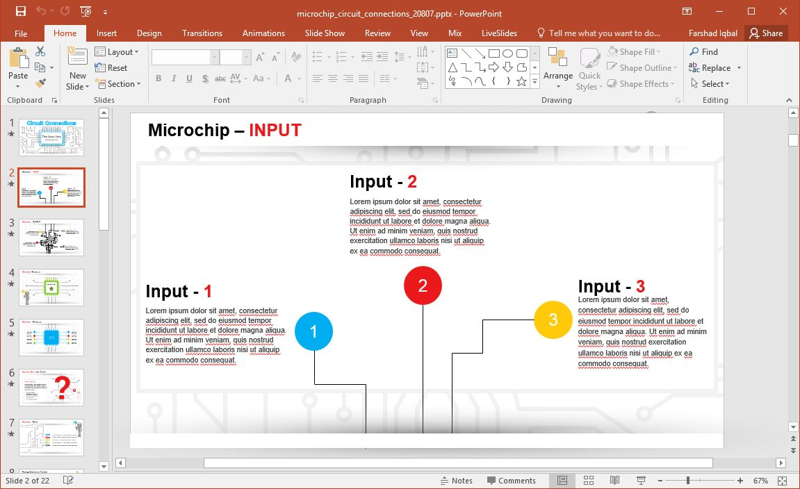 Animated Microchip Powerpoint Template in Replace