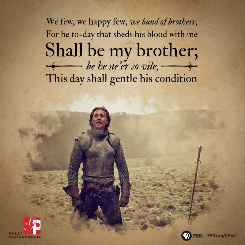 "Shakespeare Quotes Happiness: ""We Few, We Happy Few, We Band Of Brothers..."" My AP Euro"