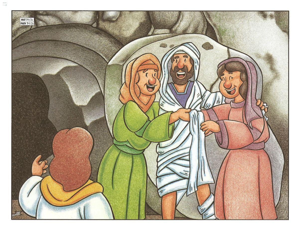 Hoy Vamos A Ver Lo Que Les Sucedió A Tres Hermanos Amigos De Jesús Estos Hermanos Eran Marta María Y Caricaturas De Niños Niños Cristianos Milagros De Jesús