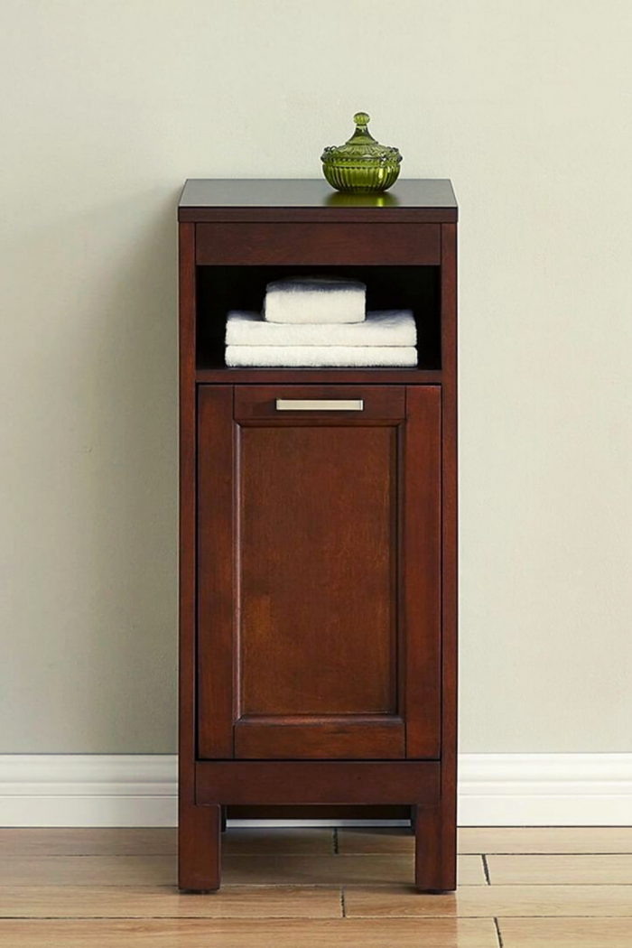 Brown Bathroom Storage Ideas