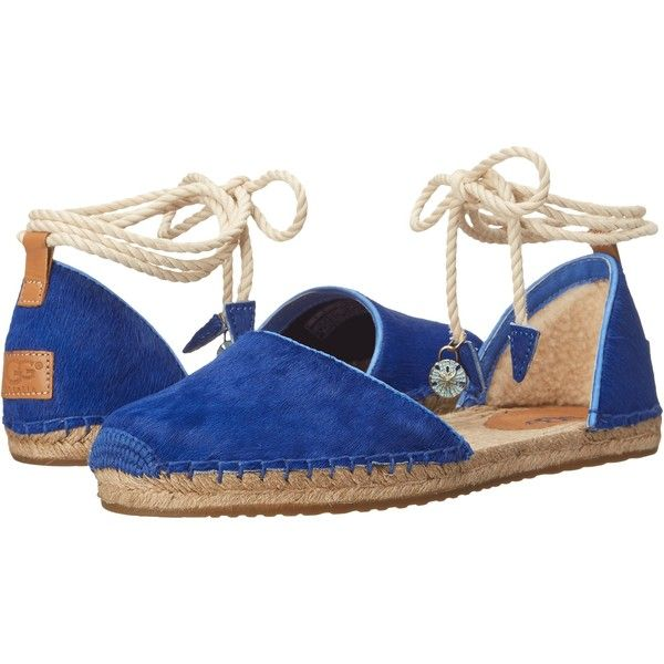 e7b9d98a908 UGG Libbi Calf Hair Women's Slip on Shoes, Blue ($71) ❤ liked on ...