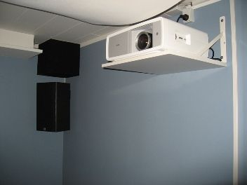 Projector Shelf Ideas Ideas For Home Theater In Basement