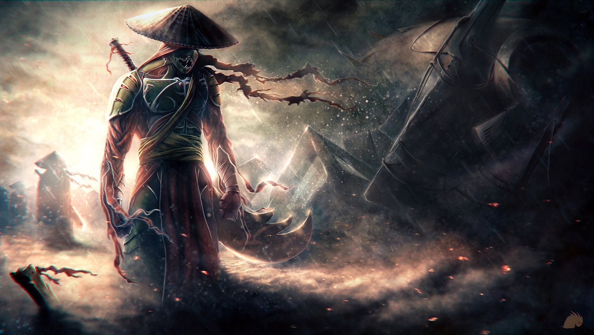 Dead samurai warrior warrior
