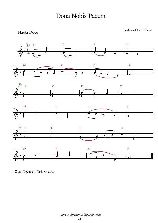 Album de partituras para flauta doce | Atividades | Pinterest