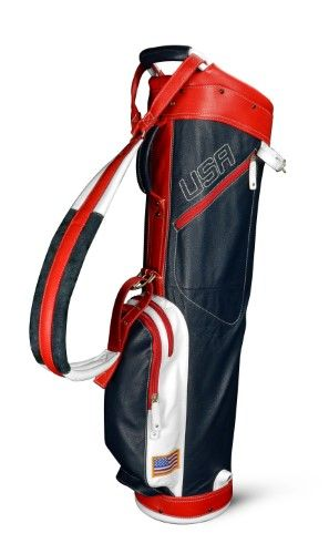 Sun Mountain Leather Sunday Golf Bag Mens - Navy-White-Red, Blue ... 90a75f25f1
