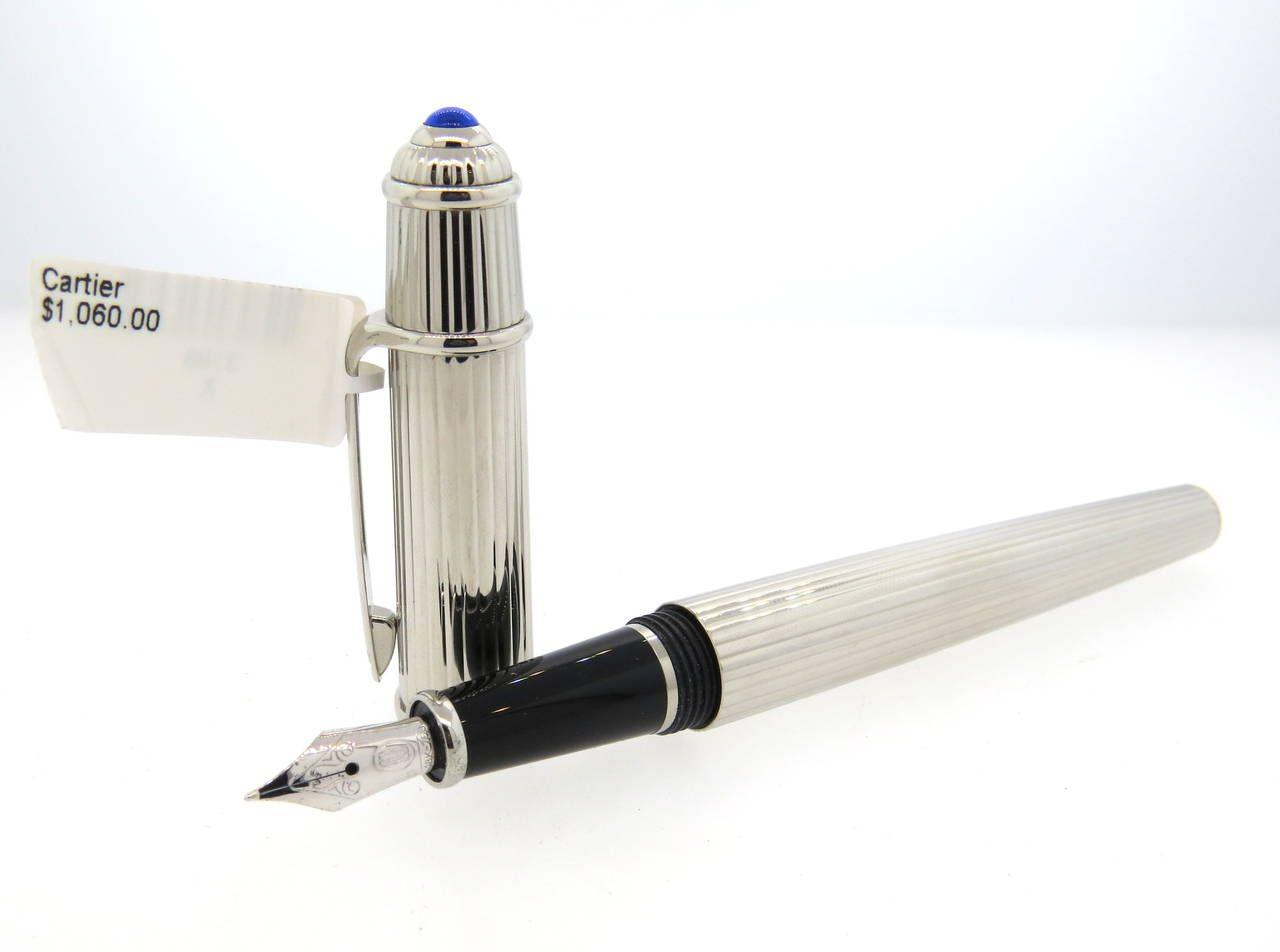 59a437af415 Cartier Diabolo Platinum Finish Fountain Pen