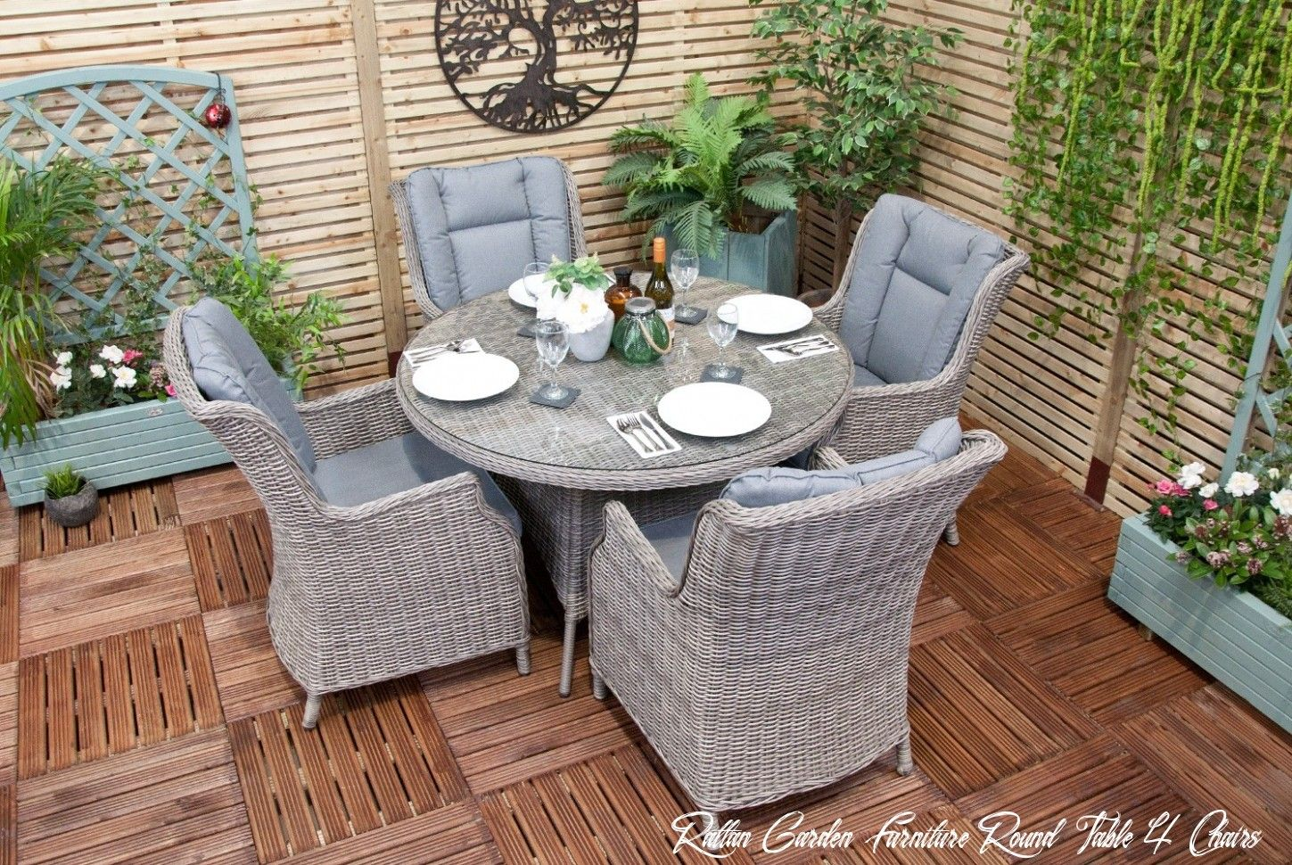 10 Rattan Garden Furniture Round Table 4 Chairs In 2020 Rattan Garden Furniture Outdoor Furniture Sets Dining Furniture Sets