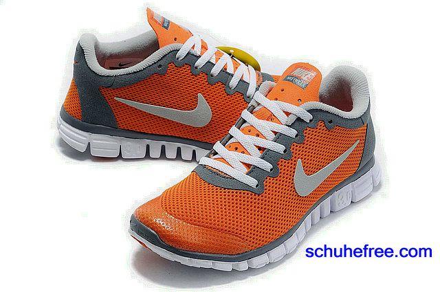 Herren Nike Free 3.0 V2 Schuhe GroBe Net Lachs Rosa Grau