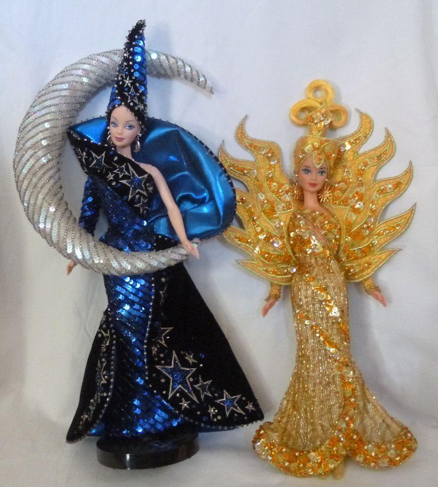 Barbie goddess of sun 8th 1995 moon 9th 1996 bob mackie limited edition #Mattel #Dolls