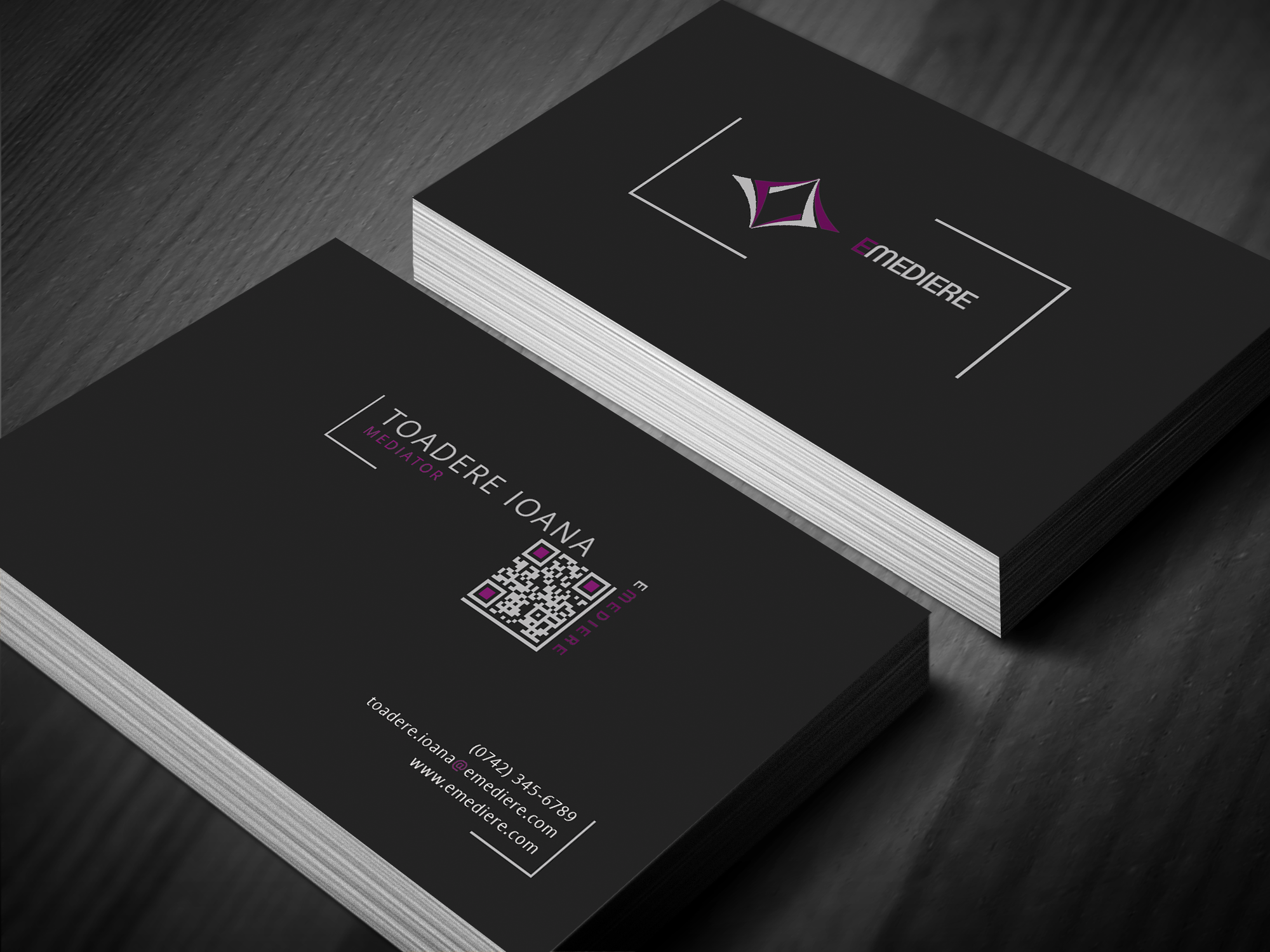 Emediere Lawyers Business Cards Print Business Card Design