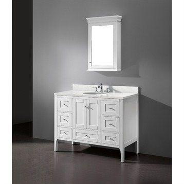 Madeli Torino 48 Bathroom Vanity Matte White Free Shipping