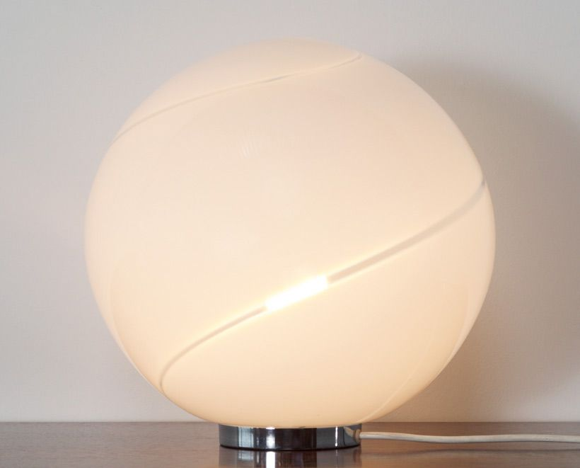 Alfredo barbini spherical glass table lamp murano aloadofball Image collections