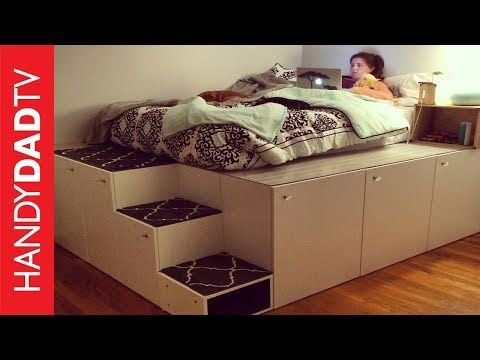 20 Smart And Gorgeous Ikea Hacks Save Time And Money With Functional Designs And Beautiful Trans Ikea Platform Bed Platform Bed With Storage Diy Platform Bed,Front Door And Shutter Colors For Red Brick House