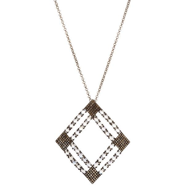 Bavna Emerald & Diamond Open Pendant Necklace D8r7ZkAA4