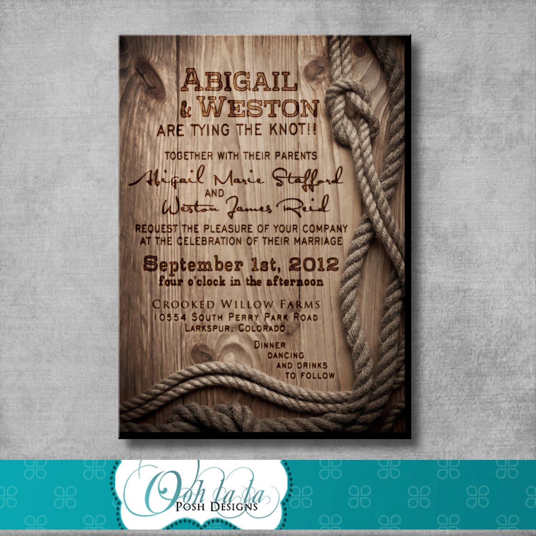 Rustic wedding invitation diy printable customizable western