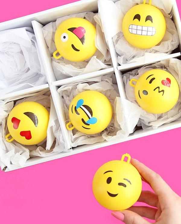 Diy Emoji Ornaments Christmas Ornaments Homemade Diy Christmas Ornaments Emoji Diy