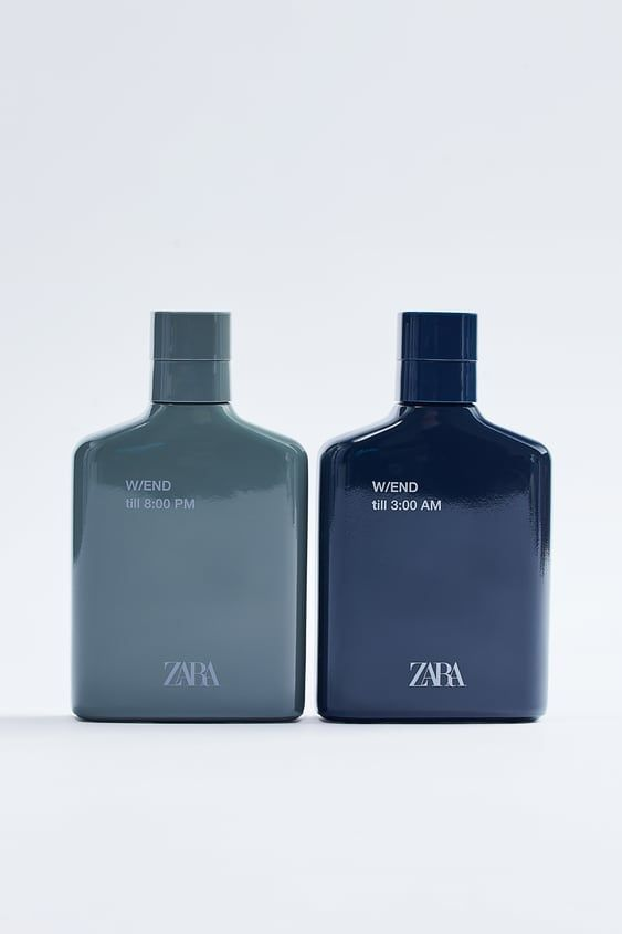 Zara W/End Till 8:00 Pm W/End Till 3:00 Am Edt 100 Ml + 100 Ml (3.4 Fl. Oz). Eau De Toilette Set Of Two. Fragrance Pyramid Includes Notes Of (I) Mandarin, Pepper, And Leather + (Ii) Bergamot, Pineapple, And Violet Petals.