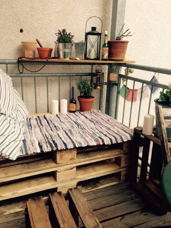Gemutliches Sofa Fur Den Balkon Selber Bauen Diy Sofa