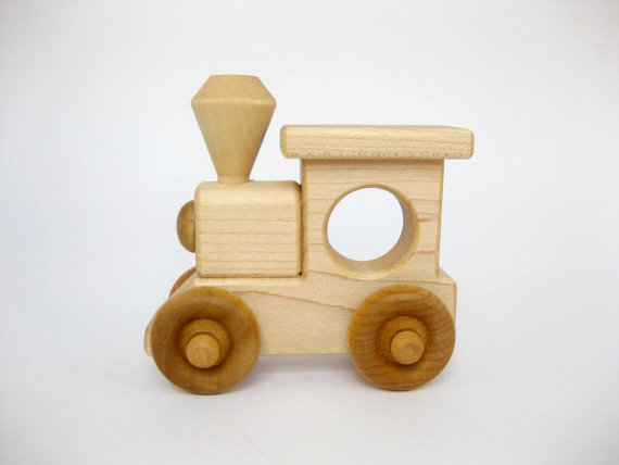 Wood Toy Train Engine Eco Friendly Wooden Toy Wooden