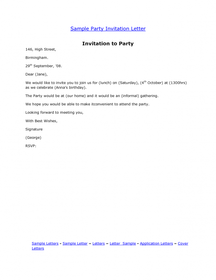 Template Sample E Mail Party Invitations Inspirations Free