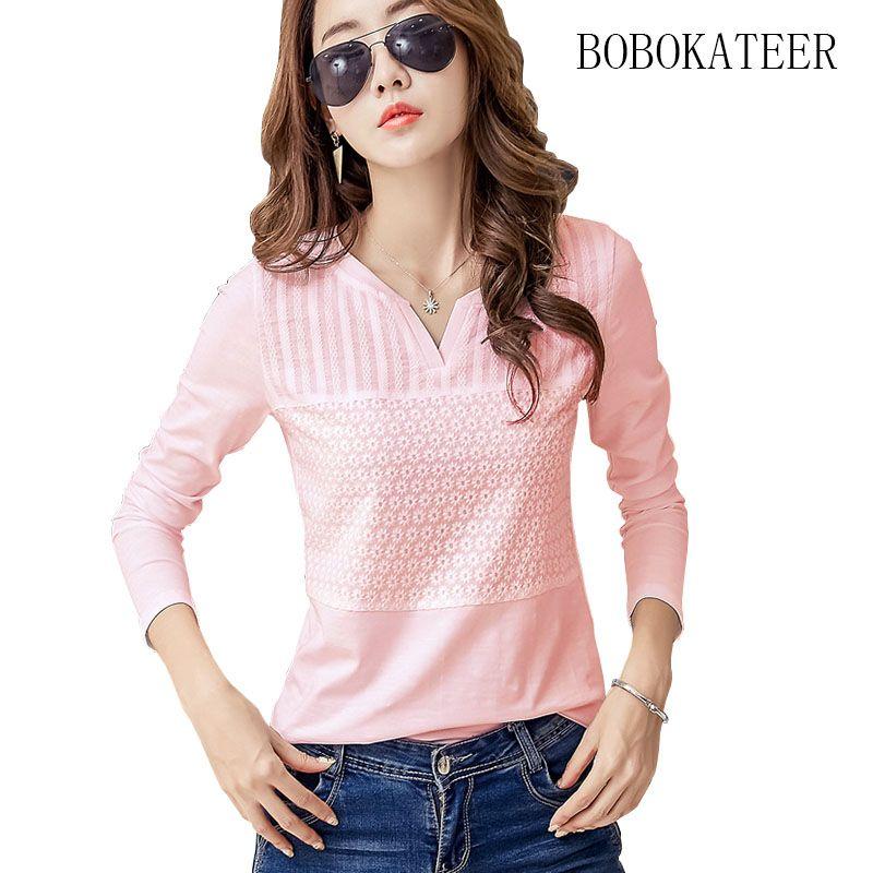 e8c58feb6357 BOBOKATEER algodón bordado blusa top blanco de manga larga camisa ...