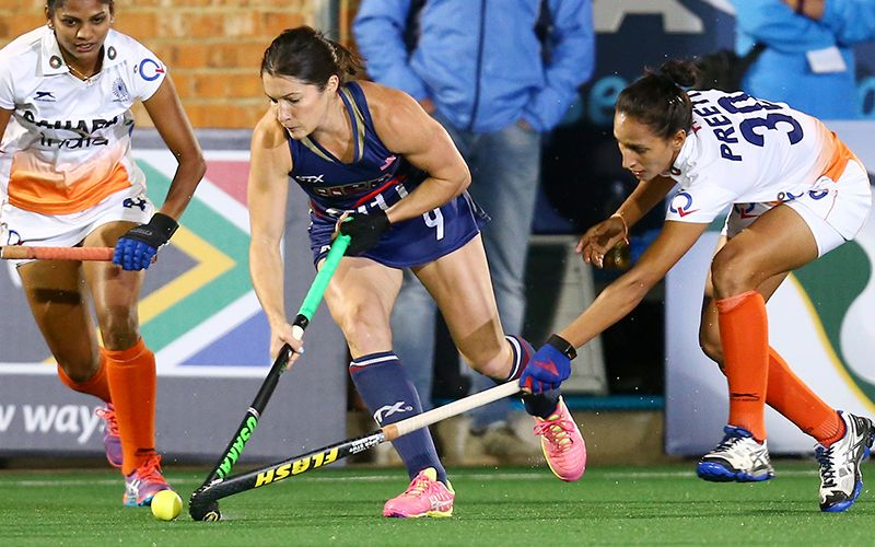 The U S Women S National Team Faced Fih Hero World Ranked No 12 India In Their Second Pool Play Match Of The International H Hockey World Hero World Team Usa