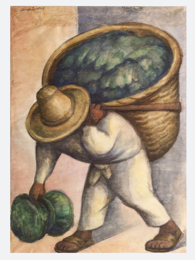 Cabbage Seller : cabbage, seller, Cabbage, Seller, Diego, Rivera, Rivera,, Mexican, Artists