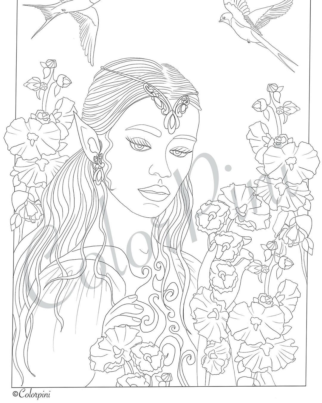 Colorpini On Instagram New Designs New Coloring Pages Are Coming Pencilartwork Coloringpages Adultcoloring Pdfdownload Ets Illustration