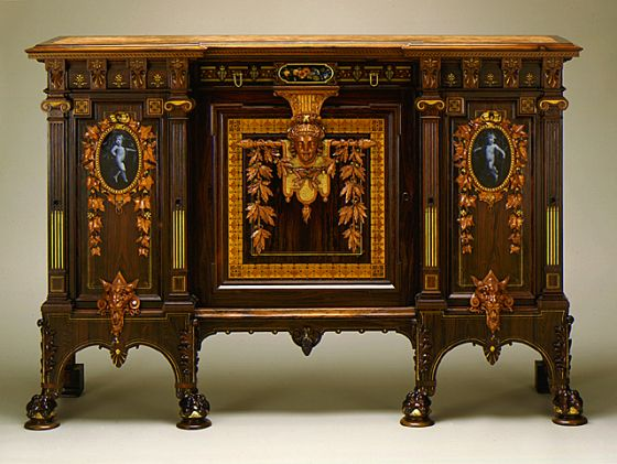 1875 American New York Parlor Cabinet At The Los Angeles County Museum Of Art