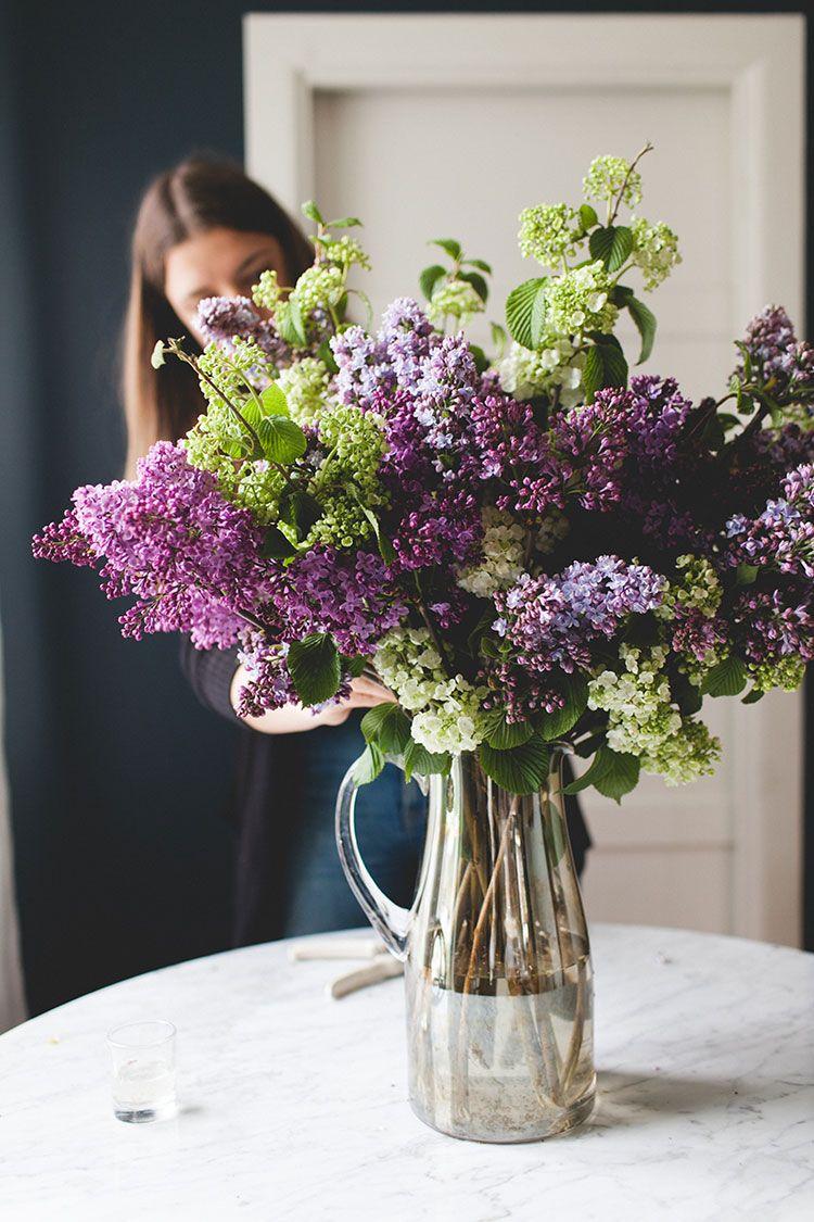 A Simple Statement Making Lilac Bouquet Diy Jojotastic Lilac Bouquet Spring Flower Arrangements Amazing Flowers