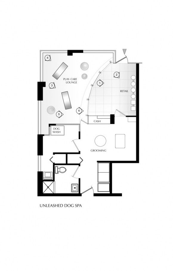 Unleashed dog spa main plan design hamptons t for Grooming shop floor plans