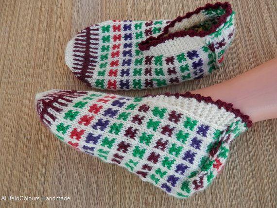 Turkish Anatolian hand knitted women's fair isle by ALIFEINCOLOURS ...