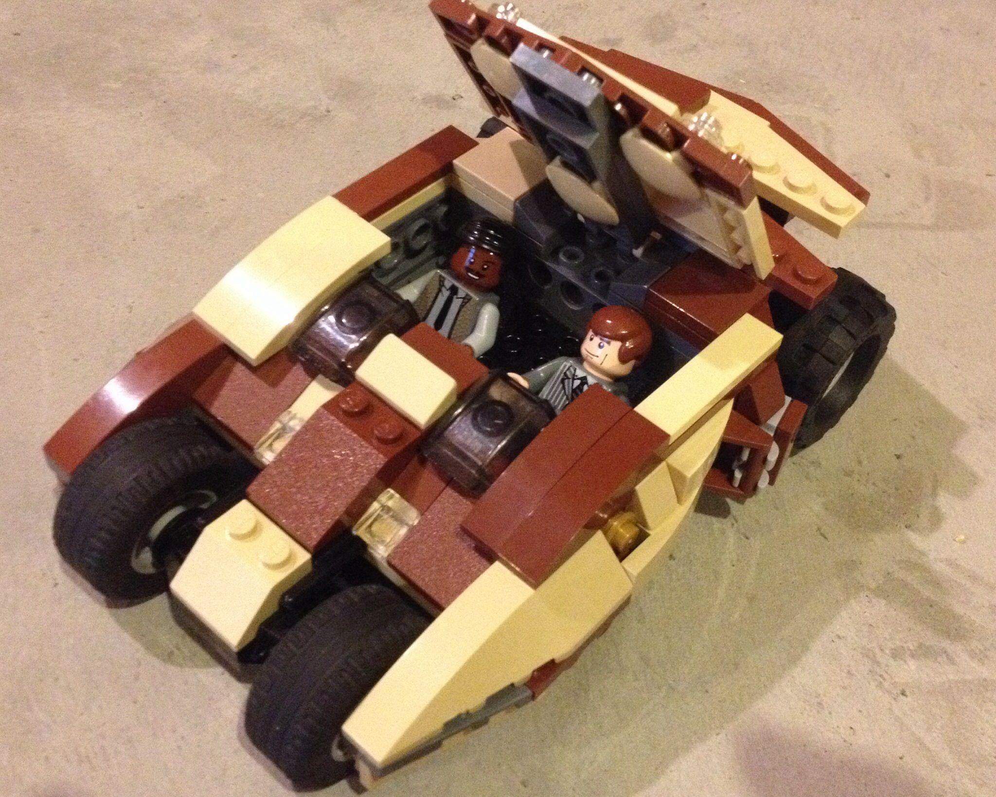 A custom Batman Tumbler The original version that Bruce Wayne