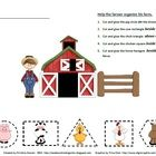 A cute little activity to glue animals according to directions