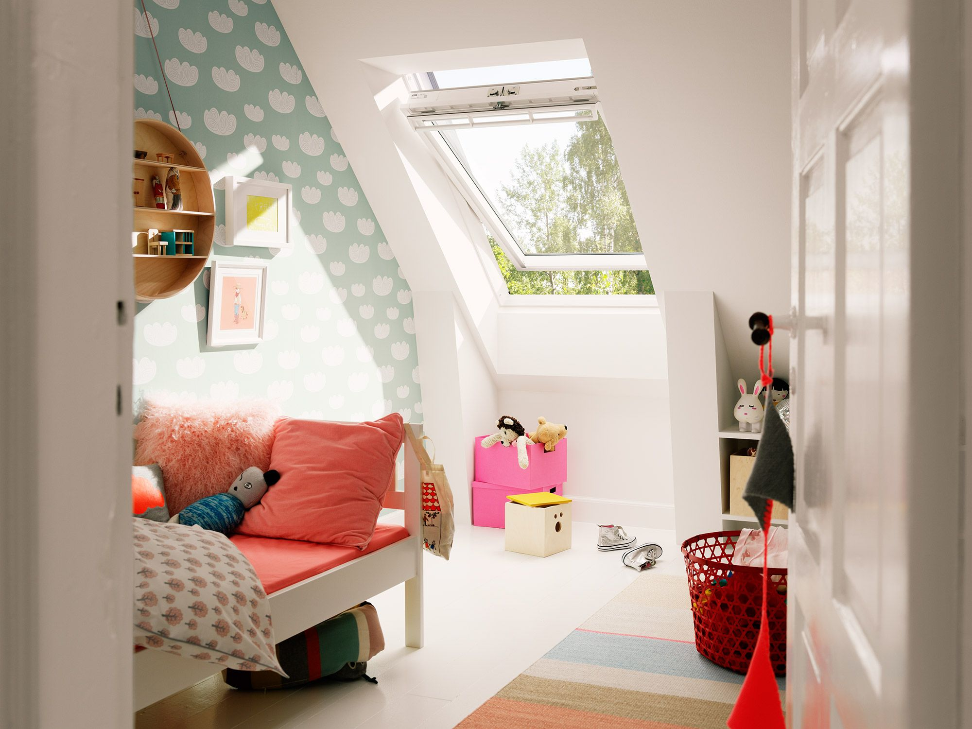 Dakkapel zolder kinderkamer kids rooms attic kids