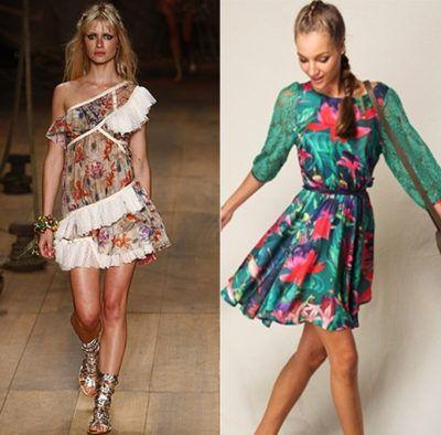 modelos de vestidos curtos para o verão