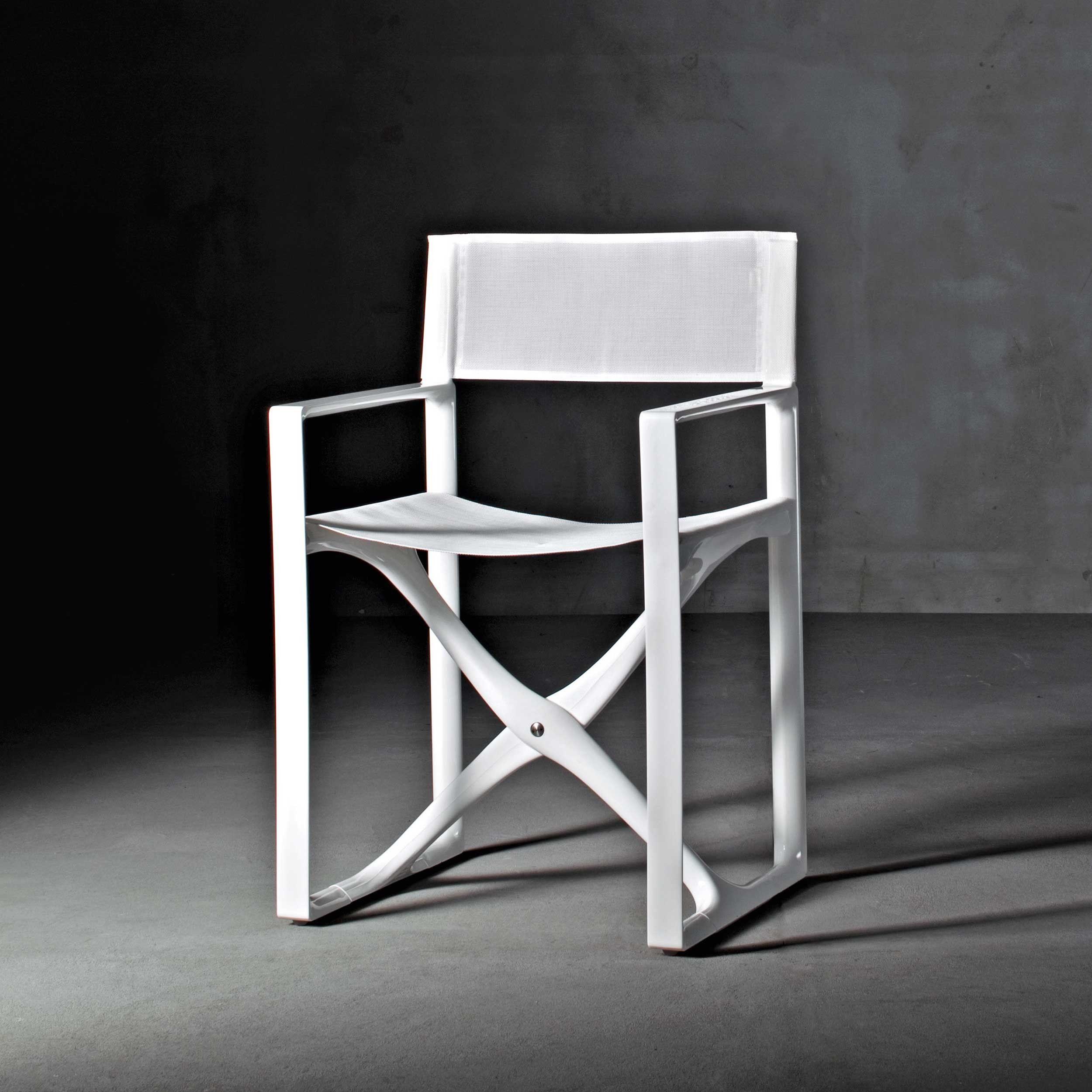 Missoni Home Outdoor Folding Chair Regista: Folding Chair In White Polyamide Mod. La Regista
