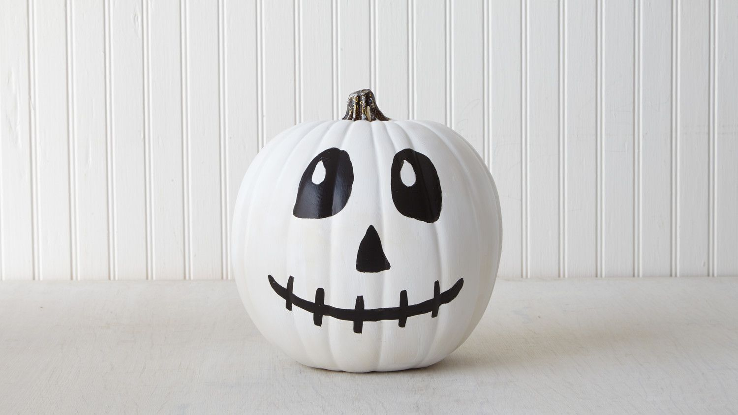 A skeleton with a devilish grin is just the thing your front porch needs this Halloween.